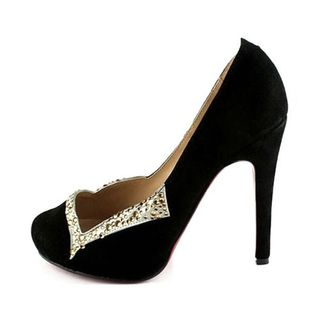 Christian Louboutin diamond sticking suede pumps