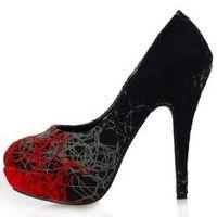 Red gray stiletto