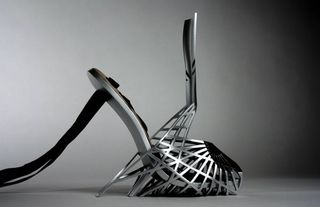 Titanium high heels by Bryan Oknyansky