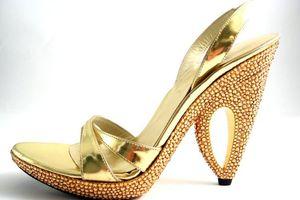 Gold hh stuart weitzman