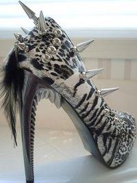 Wild cat high heels
