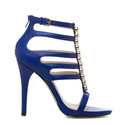 Blue stiletto sandal