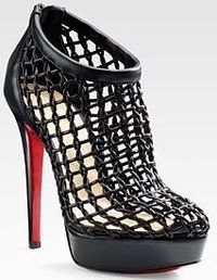 Louboutin gray architecture red sole