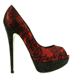 Red with black spanish lace