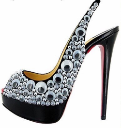 Louboutin googly eyes.